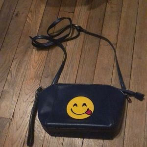 Emoji face crossbody bag